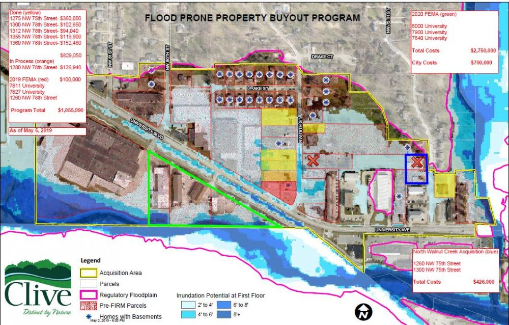 Will Clive get FEMA grant to buyout flood-prone properties? Officials
